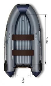 Лодка ПВХ Флагман 300 НДНД надувная под мотор